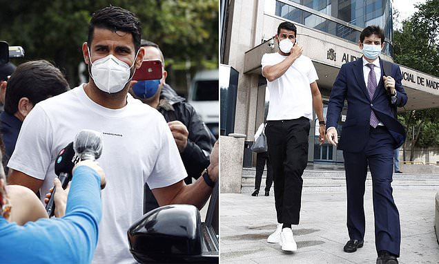 Ex-Chelsea striker, Diego Costa handed 6-month prison sentence and slapped with ?482k fine by Spanish authorities in tax fraud case (photos)