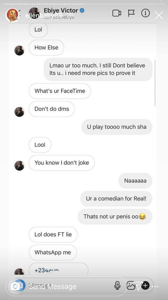 Danish comedienne, Ellen calls out Nigerian comedian Ebiye for allegedly harassing her with his dick photo