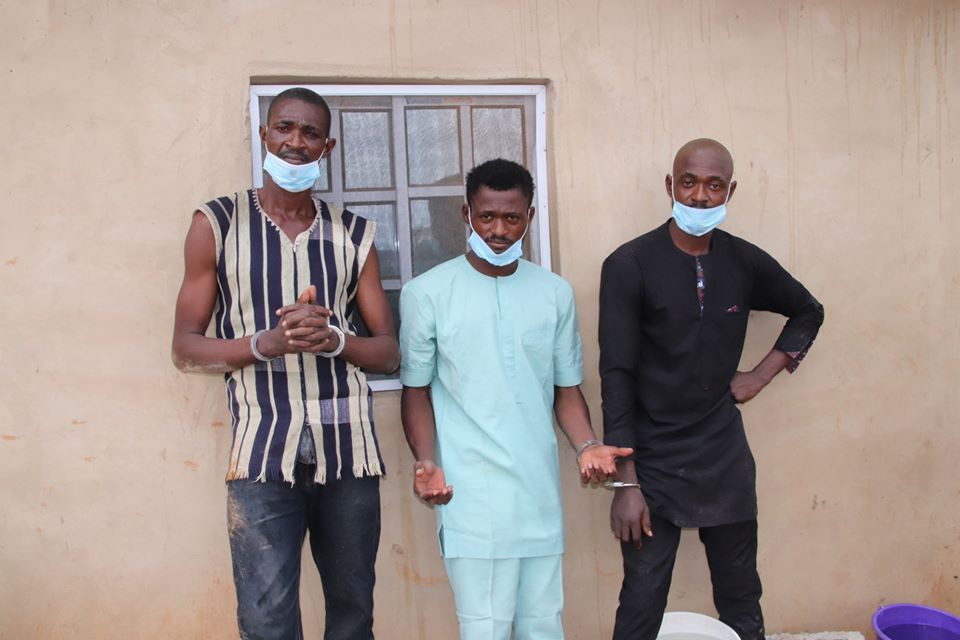 Three brothers arrested for kidnapping and murdering mother of five in Abuja (photos)