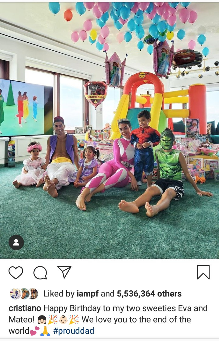 Cristiano Ronaldo twins Eva and Mateo birthday