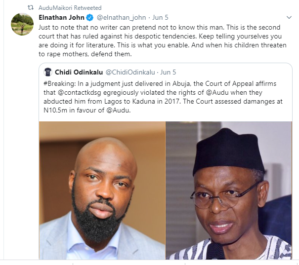 Audu Maikori wins N10 million lawsuit against Kaduna government