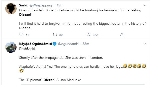 Nigerians react to former Minister of Petroleum,  Diezani Alison-Madueke