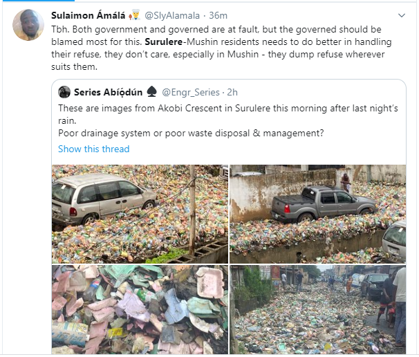 image result for lagos state refuse after rain