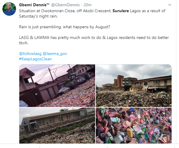Surulere overtaken by heaps of refuse after last night