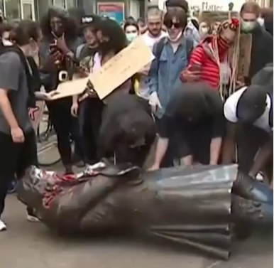 Black Lives Matter protesters in England destroy a more than 100 ...