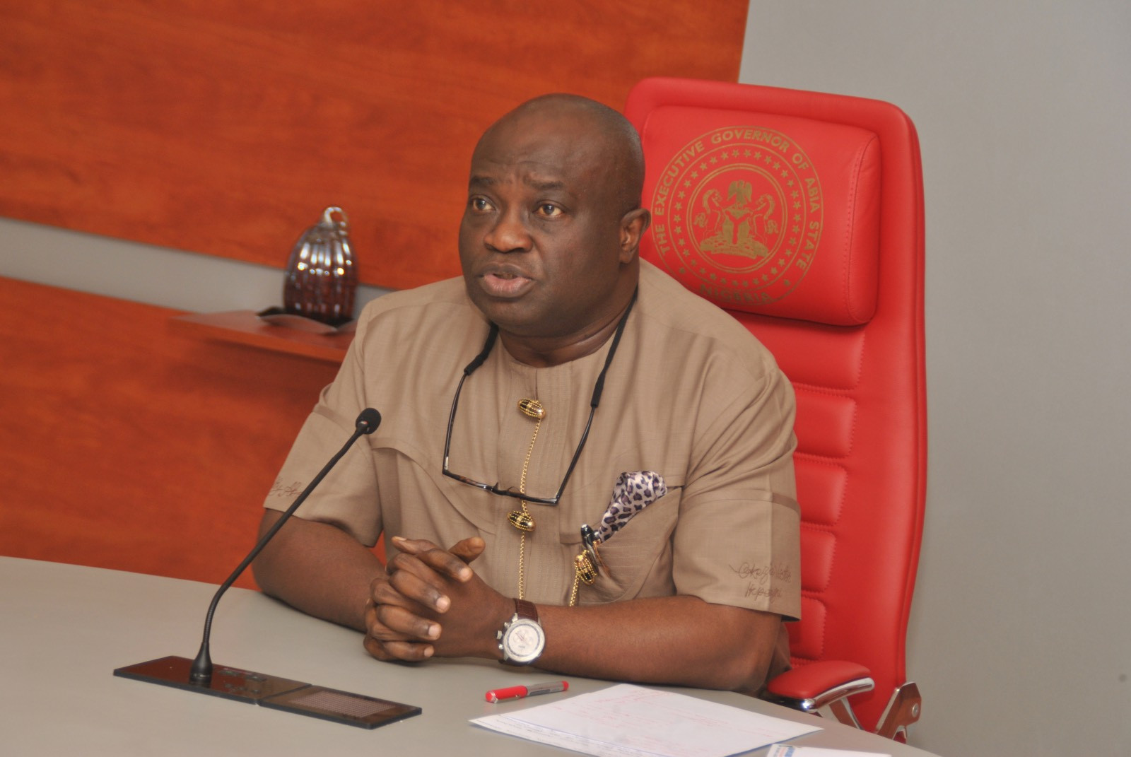 Abia state Governor, Okezie Ikpeazu tests positive for Coronavirus