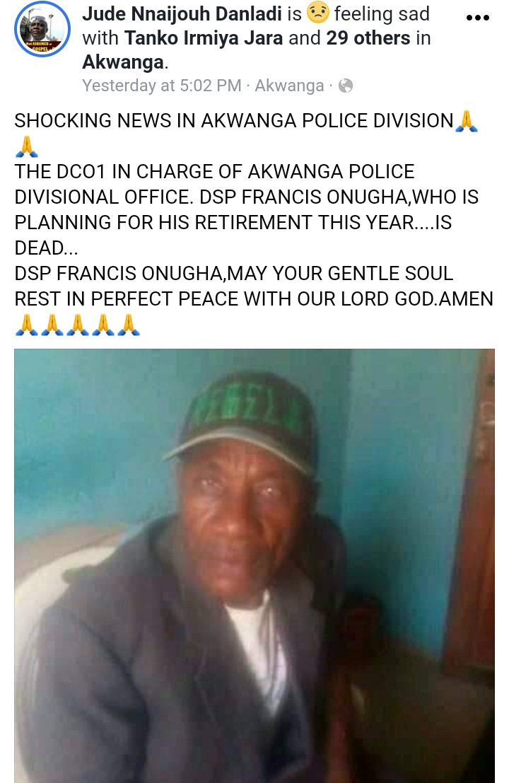 DSP, Francis Onugha found lifeless and naked at the Police Barrack in Akwanga