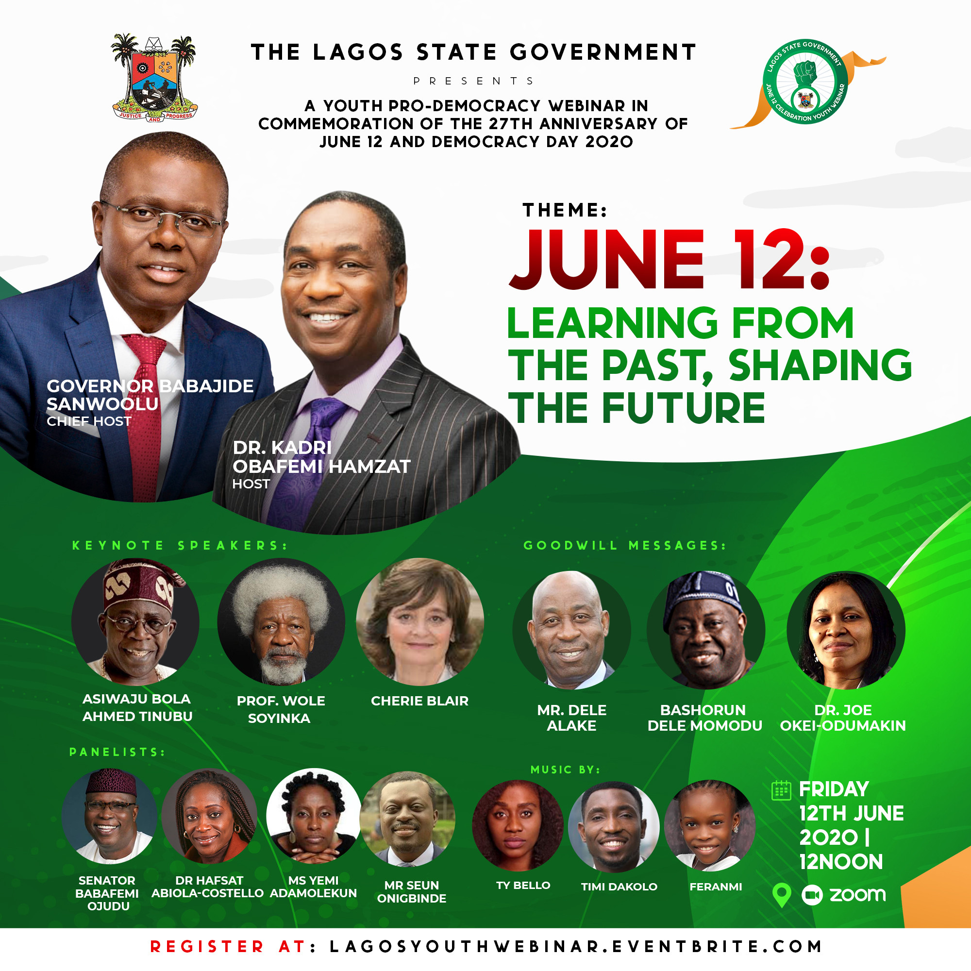 Invitation: Sanwoolu to host Tinubu, Soyinka, Cherie Blair, Momodu, Odumakin on June 12 Commemoration Webinar for Lagos Youth