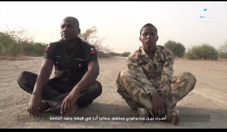 Boko Haram releases new video showing the execution of a soldier and a police officer