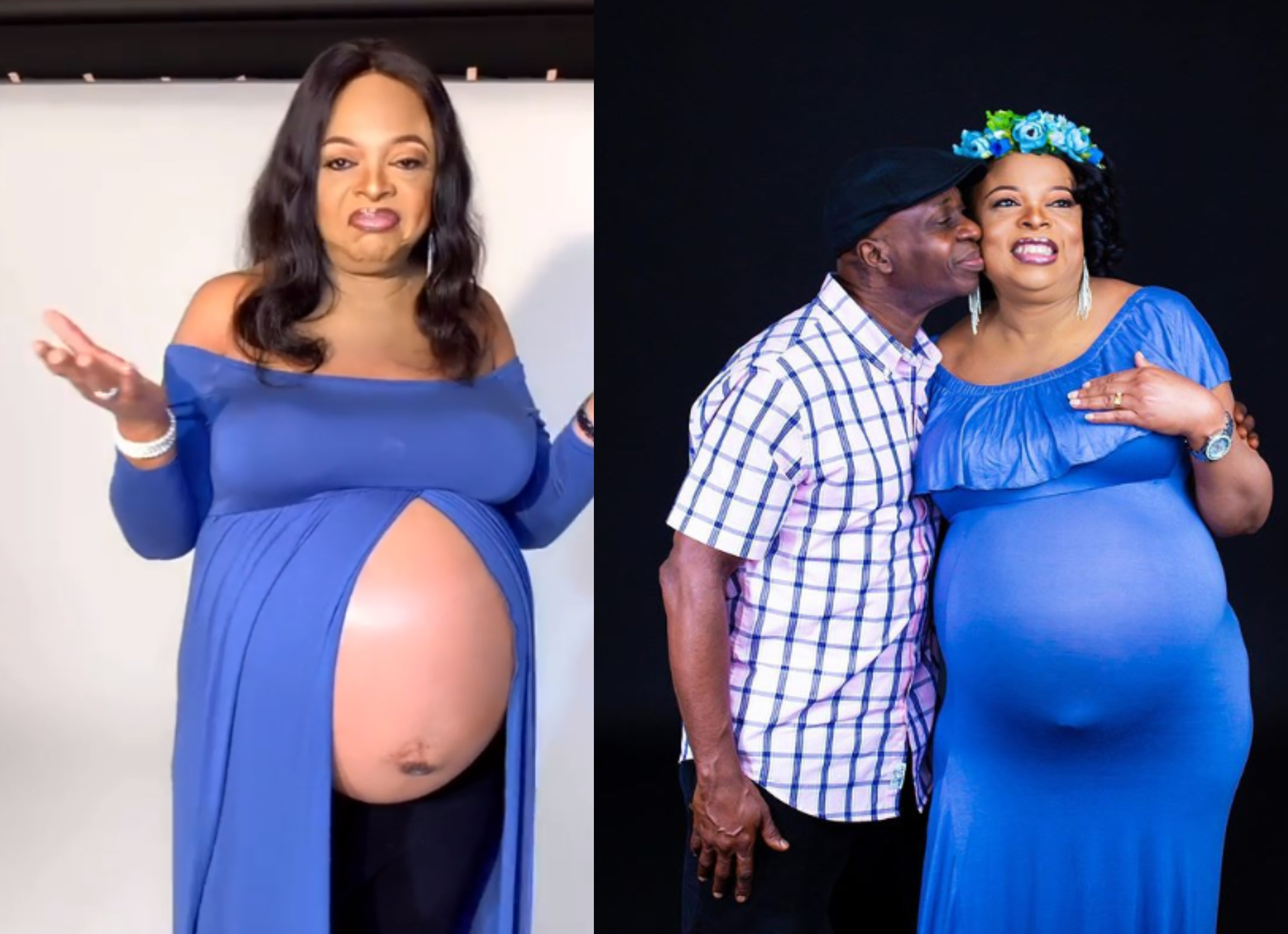 54-year-old Nigerian woman welcomes her first babies with her husband (video)