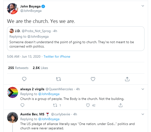 Actor John Boyega tells Christians to boycott prosperity churches