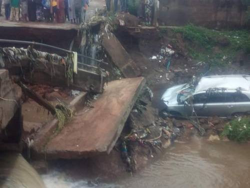 One person confirmed dead after bridge collapsed during heavy ...