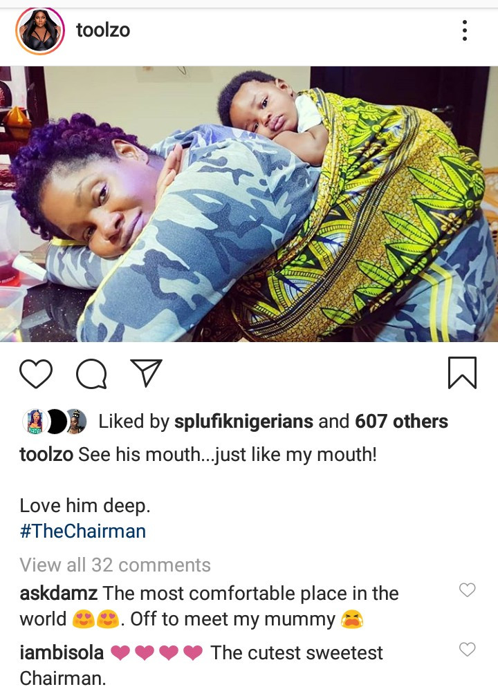 Toolz shares adorable photo of her and her lookalike son