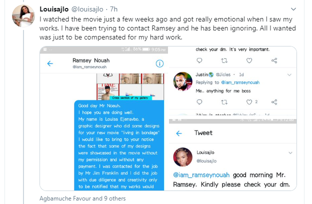 Kate Henshaw reacts as graphic designer calls out Ramsey Noah for allegedly using her designs for his movie without paying for it