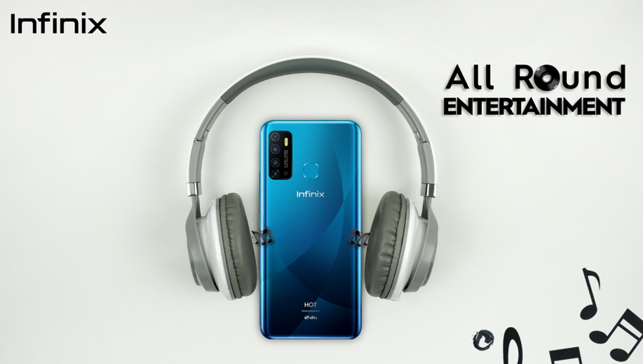 Enjoy non-stop entertainment with Infinix HOT 9 play?s 6000mAh battery and massive HD screen
