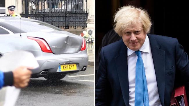 Boris Johnson involved in a car crash outside Parliament