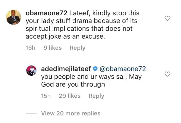 Actor Adedimeji Lateef slams followers who told him there