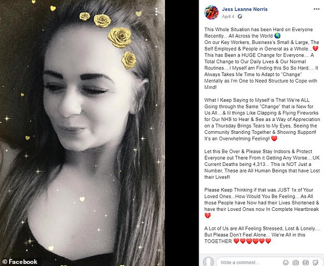 British pole dancing champion, Jess Leanne Norris dies suddenly at 27 after posting that she was finding the lockdown