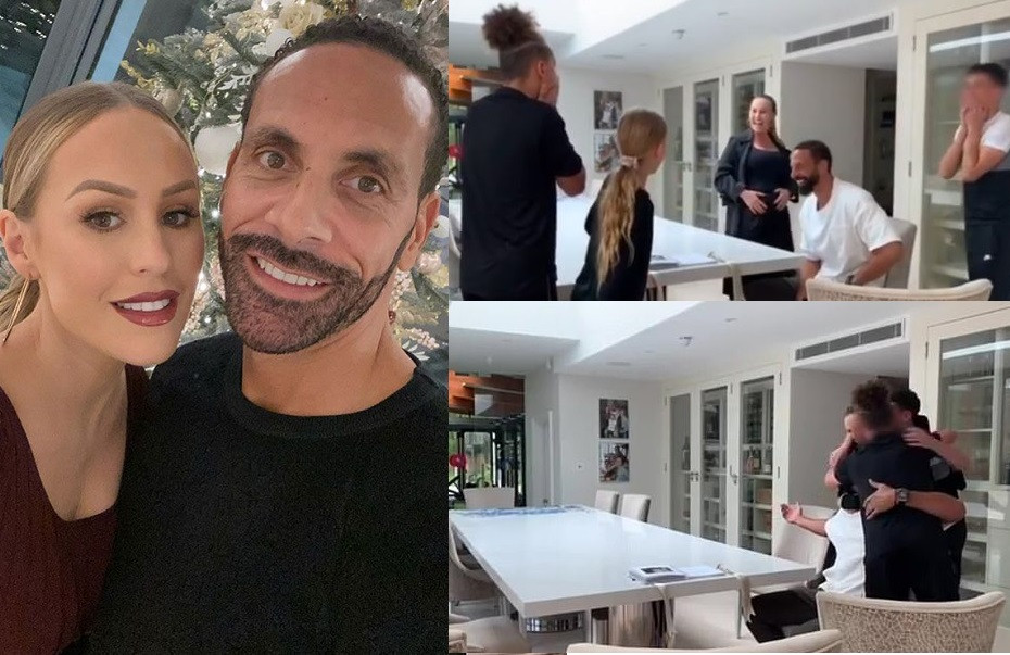 Rio Ferdinand and Kate announce they are expecting first child together with sweet family video?