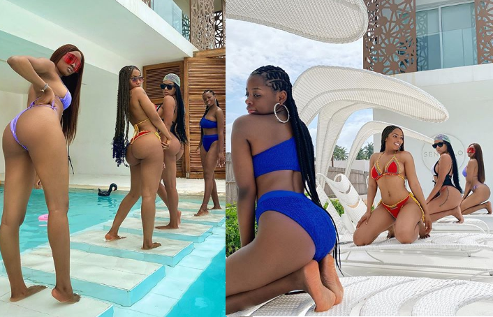 Mercy Eke, Kim Oprah, Venita, and Diane flaunt their curves in new bikini photos