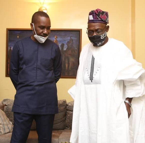 Ex-President Olusegun Obasanjo pays condolence visit to Pastor Ituah Ighodalo over the death of his wife, Ibidun Ighodalo (photos)