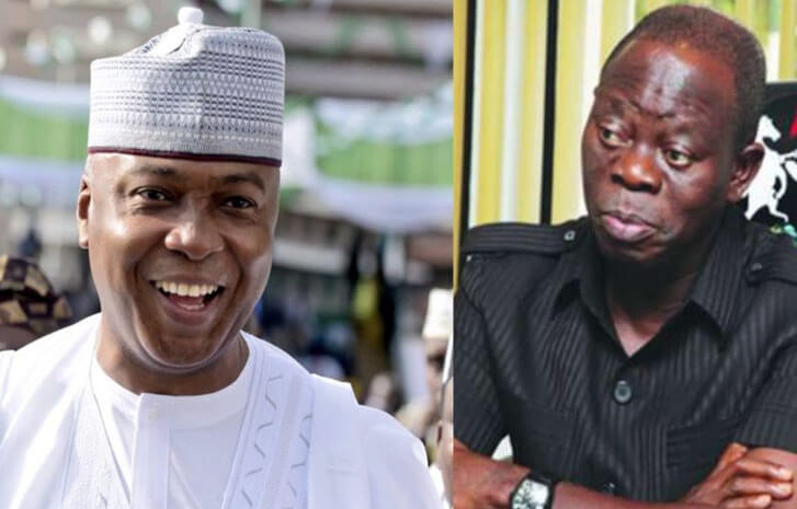 Oshiomhole?s masquerade will dance naked in the market ? Saraki