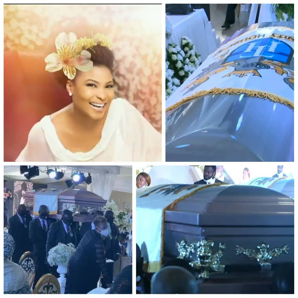 Late Ibidun Ajayi-Ighodalo's body laid to rest in Lagos (photos/videos)