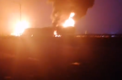 Petrol tanker goes up in flames on Kara bridge in Lagos (photos/video)