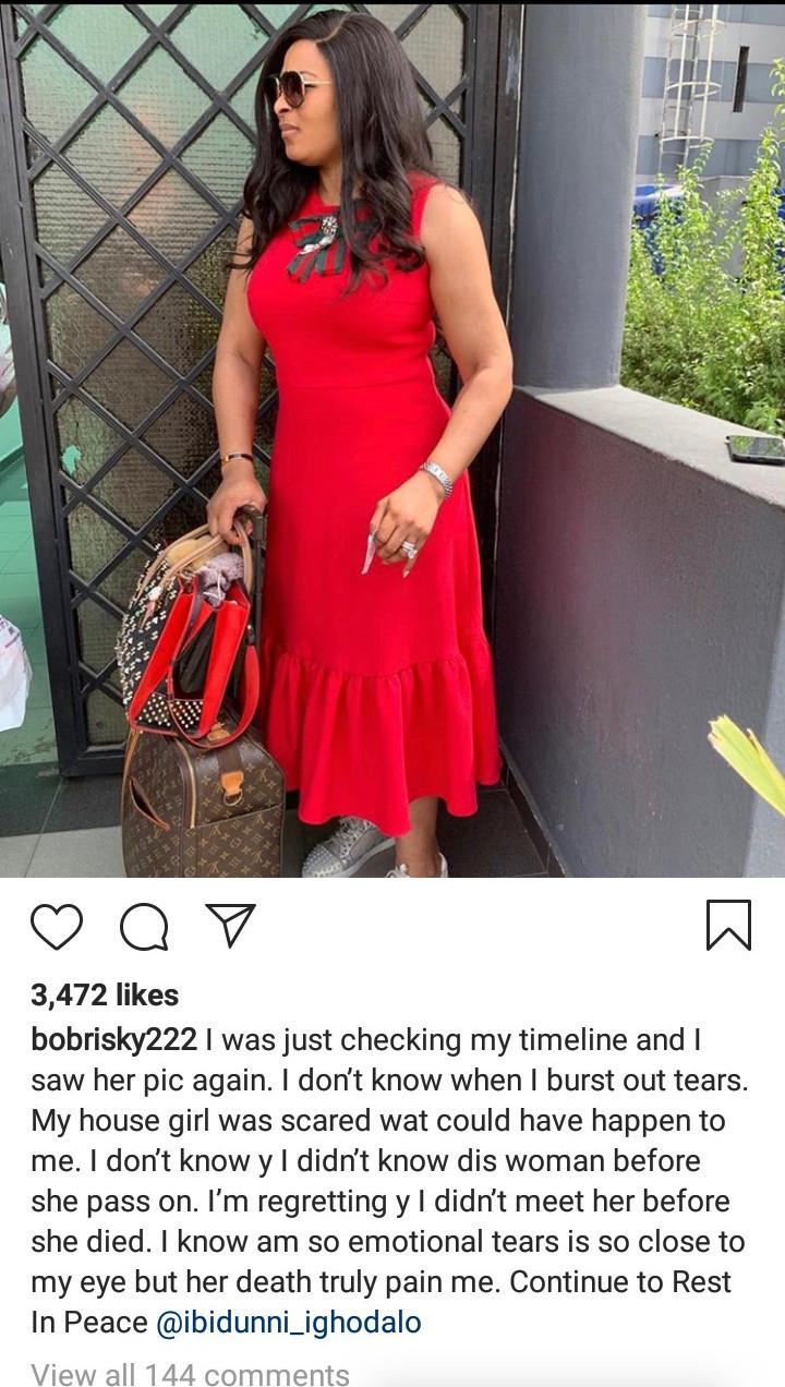 Bobrisky reveals how much Ibidun Ajayi-Ighodalo