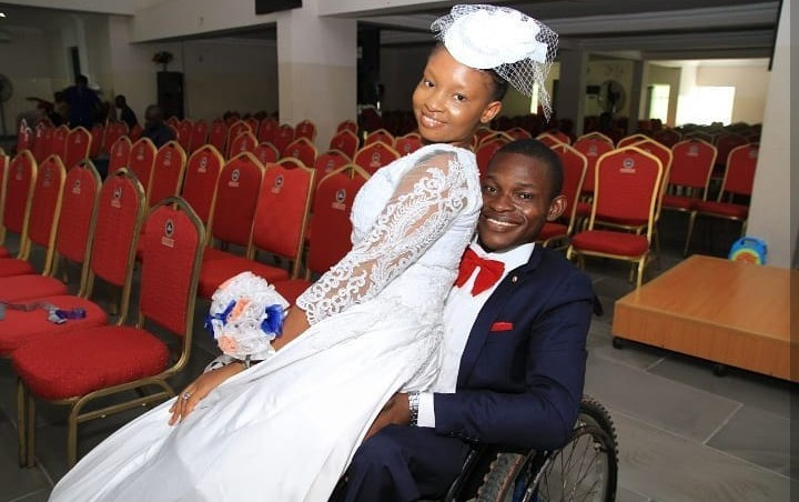 """She married the personality, not the disability"" physically challenged man who recently got married tells trolls"