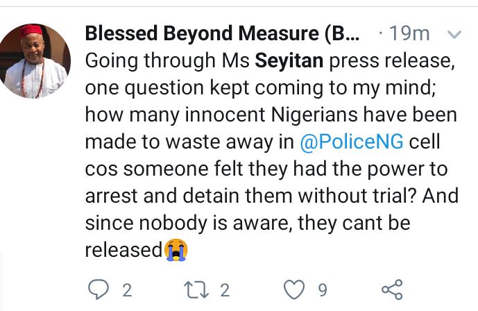 Nigerians react to Seyitan Babatayo