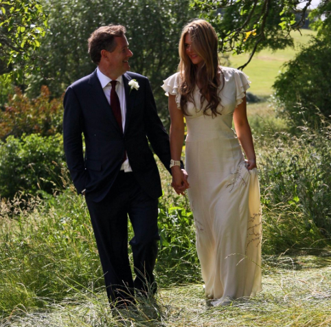 Twitter users troll Piers Morgan after he shared rare photo from his wedding to celebrate his 10th wedding anniversary
