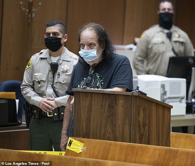 Adult film star, Ron Jeremy makes his first appearance in court after he was charged with raping three women and sexually assaulting another (photos)