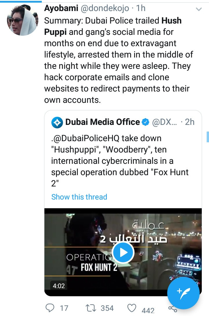 Dubai police releHushpuppi and others were arrested in an operation dubbed Fox Hunt 2