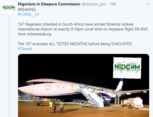 145 Nigerians evacuated from Sudan