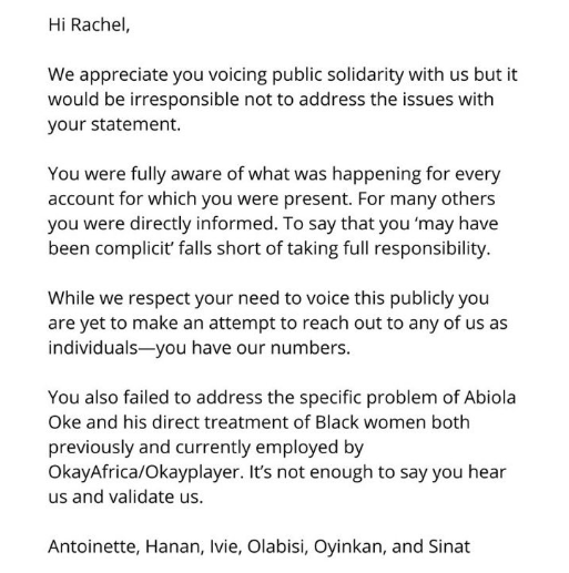 Abiola Oke, CEO of OkayPlayer resigns after multiple women took to Twitter to accuse him of unethical conduct