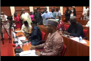 Festus Keyamo spotted having a shouting match with lawmakers over NDE recruitment (video)