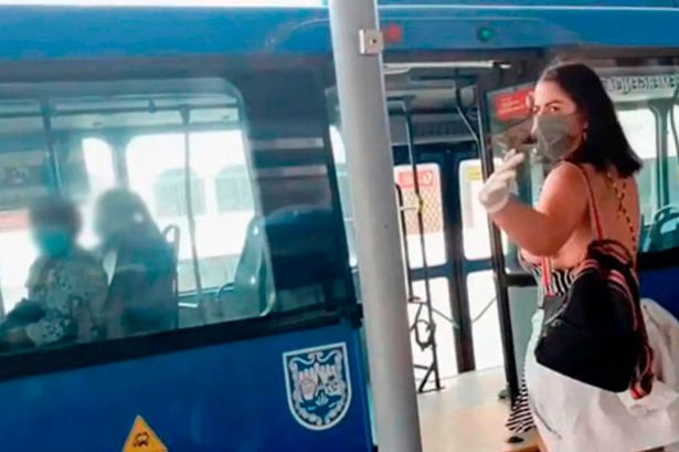Porn star wanted by police after filming sex scene on bus without face mask