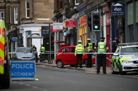 3 year old boy dies after car climbs pavement and crashes into shop