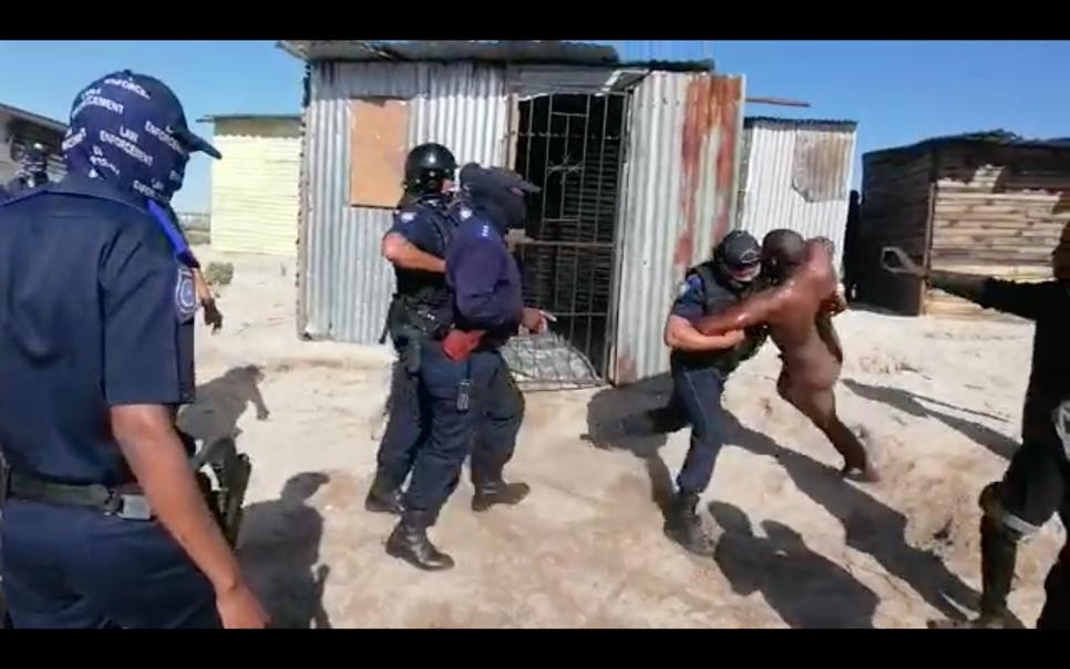 City of Cape Town to suspend officers who dragged naked man from shack