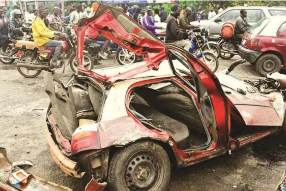 Four dead, others injured as truck suffers brake failure and rams into a car and bikes in Oyo