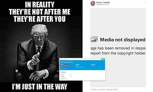 Twitter removes meme posted by Donald Trump for violating its copyright policy