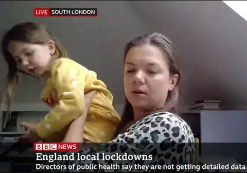 Hilarious moment daughter interrupts expert