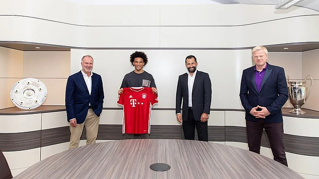 Bayern Munich officially confirm £55million signing of Leroy Sane ...