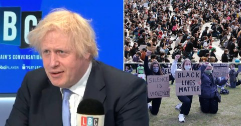 Boris Johnson suggests he will not take the knee for 'Black Lives Matter'