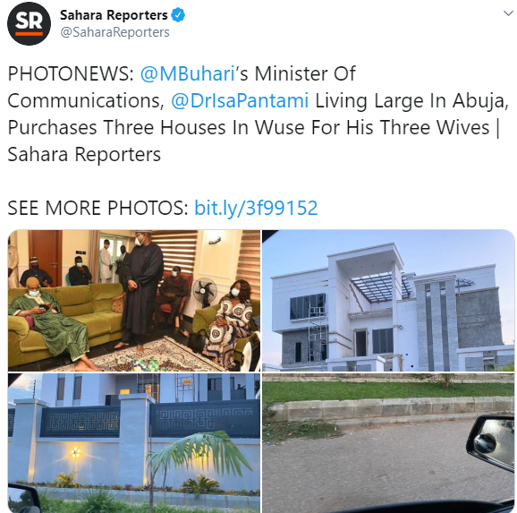 Communications Minister, Isa Pantami, denies reports of purchasing three new houses for his wives
