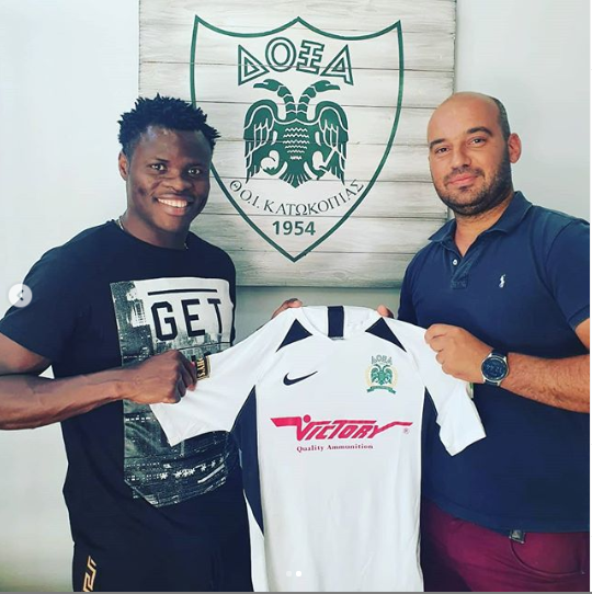 Former Super Eagles defender, Taye Taiwo joins his 11th club, Doxa Katokopias FC in Cyprus?(photos)