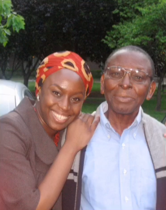 Chimamanda Ngozi Adichie pens heartfelt words and clips of her and her father to mourn him (video)