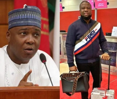 Saraki distances himself from Hushpuppi following APC's call for an investigation into his alleged link with the suspected fraudster