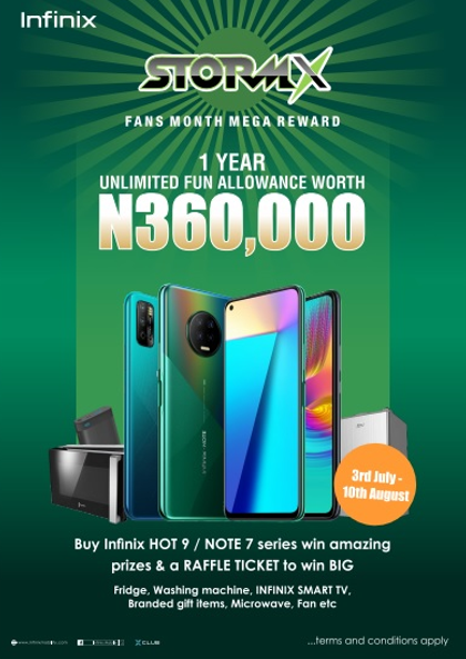 Win #360,000 in entertainment allowance for a whole year ? Join the Infinix Storm X campaign or buy the latest Infinix device